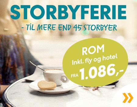 Find din Storbyferie her!