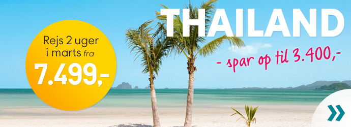 2 uger i Thailand fra kun 6.999,-