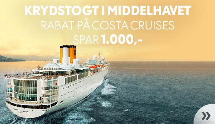 Rabat på Costa Cruises!