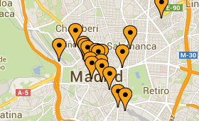 Spies har altid centrale hoteller i Madrid
