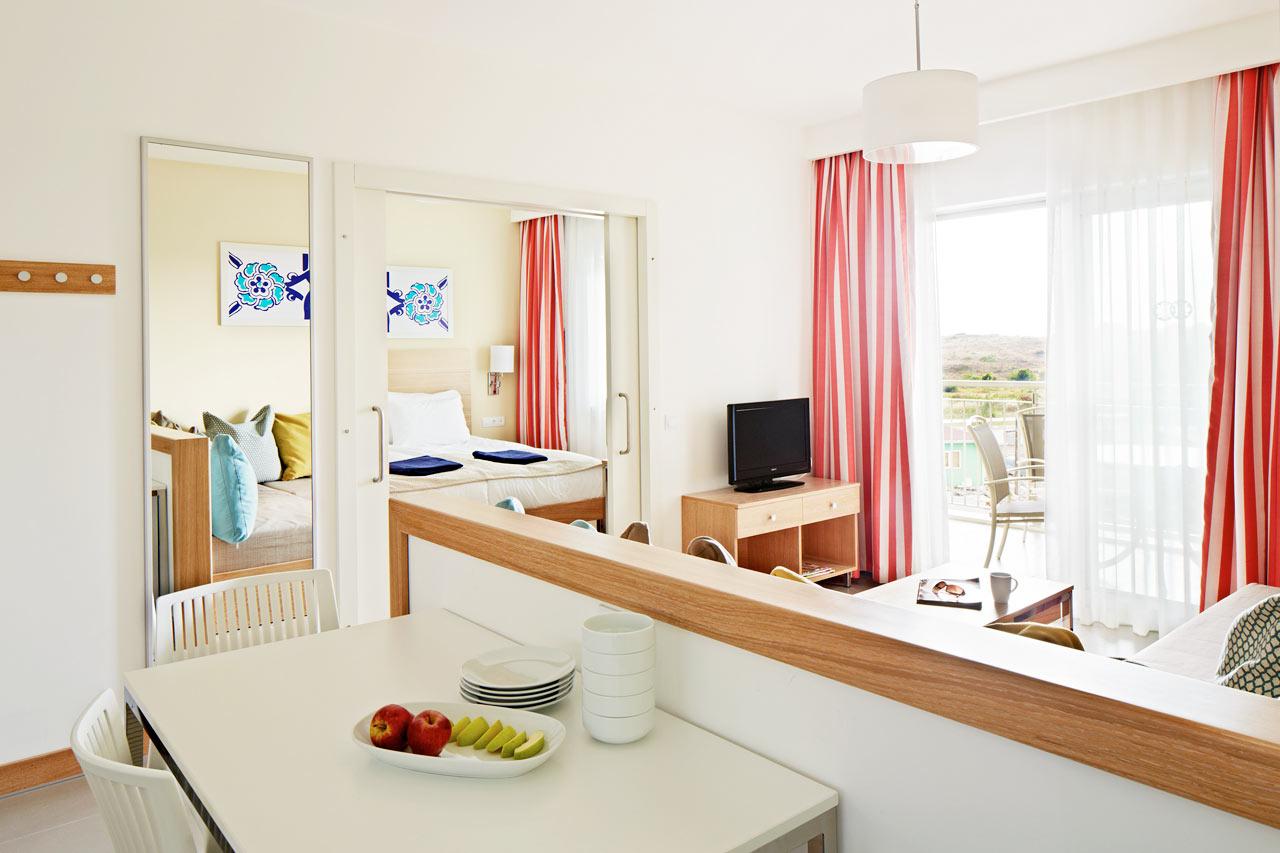 3-værelses Big Family-lejlighed med balkon mod haven/omgivelserne