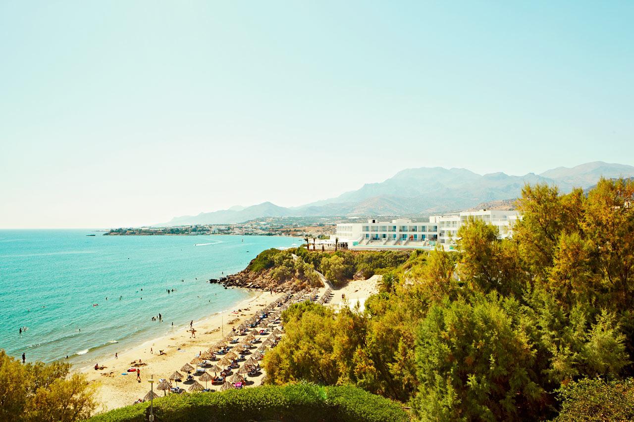 Du bor direkte ud til en dejlig, børnevenlig strand
