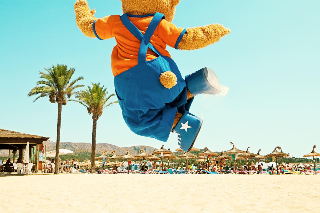 Bjørnen Bernie - den ene af Sunwings to populære maskotter