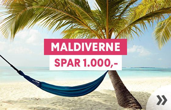 Ugens vinterkup - spar 1.000 på din rejse til Maldiverne