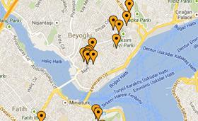 Spies har altid centrale hoteller i Istanbul