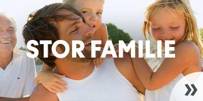 Ferie for den store familie som charterrejse